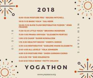 Yogathon New's Year Day 2018